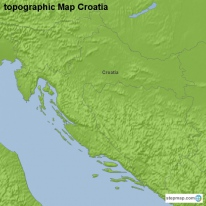topographic Map Croatia