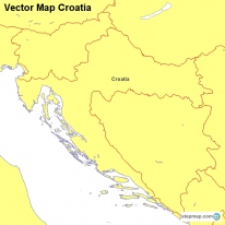 Vector Map Croatia
