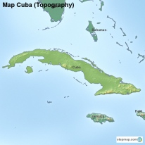 Map Cuba (Topography)