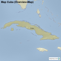 Map Cuba (Overview-Map)