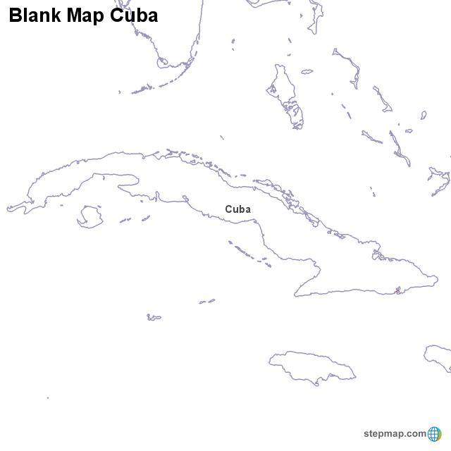 Cuba To Florida Map.Stepmap Maps For Cuba