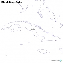Florida Map Blank.Stepmap Maps For Cuba