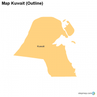 Map Kuwait (Outline)