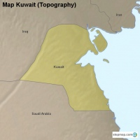 Map Kuwait (Topography)