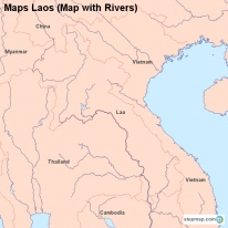 Maps Laos (Map with Rivers)