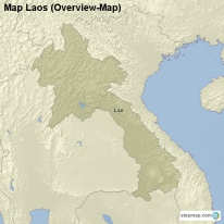 Map Laos (Overview-Map)