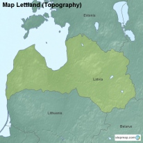 Map Lettland (Topography)