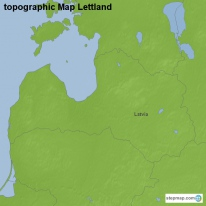 topographic Map Lettland