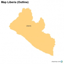 Map Liberia (Outline)