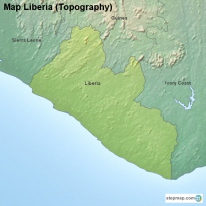 Map Liberia (Topography)