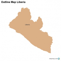Outline Map Liberia