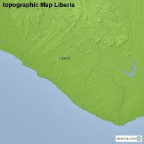 topographic Map Liberia