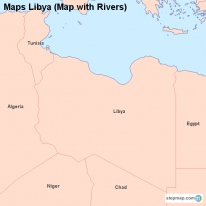 Maps Libya (Map with Rivers)