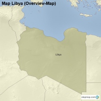 Map Libya (Overview-Map)