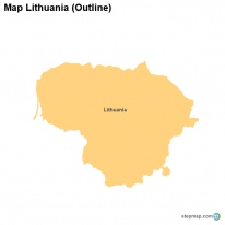 Map Lithuania (Outline)