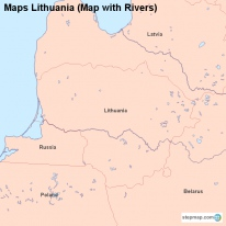 Maps Lithuania (Map with Rivers)