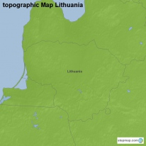 topographic Map Lithuania