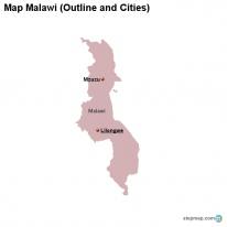 StepMap Maps For Malawi - Malawi blank map