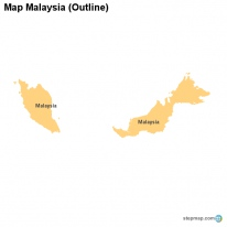 Map Malaysia (Outline)
