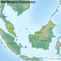 Map Malaysia (Topography)