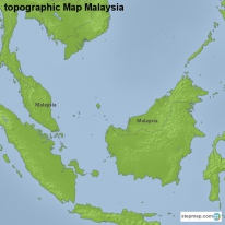 topographic Map Malaysia
