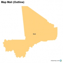 Map Mali (Outline)