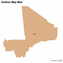 Outline Map Mali