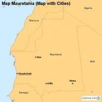 Map Mauretania (Map with Cities)