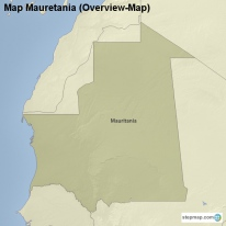 Map Mauretania (Overview-Map)