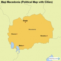 Stepmap maps for macedonia map macedonia political map with cities publicscrutiny Choice Image