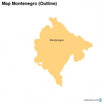 Map Montenegro (Outline)