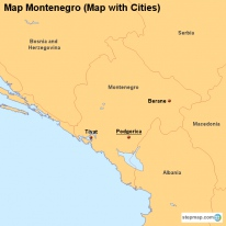 Map Montenegro (Map with Cities)