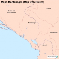 Maps Montenegro (Map with Rivers)