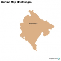 Outline Map Montenegro