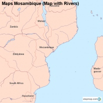 Maps Mosambique (Map with Rivers)