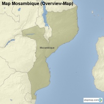 Map Mosambique (Overview-Map)
