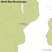 Blank Map Mosambique