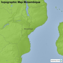 topographic Map Mosambique