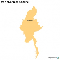 Map Myanmar (Outline)