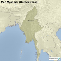 Map Myanmar (Overview-Map)
