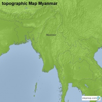 topographic Map Myanmar