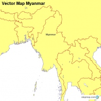 Vector Map Myanmar