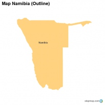 Map Namibia (Outline)