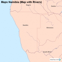 Maps Namibia (Map with Rivers)