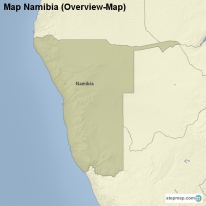 Map Namibia (Overview-Map)