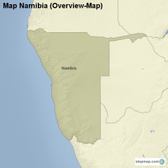 Map Namibia