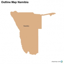 Outline Map Namibia