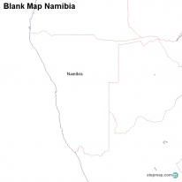 Blank Map Namibia