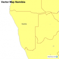 Vector Map Namibia