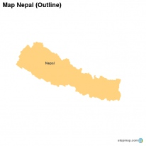 Map Nepal (Outline)